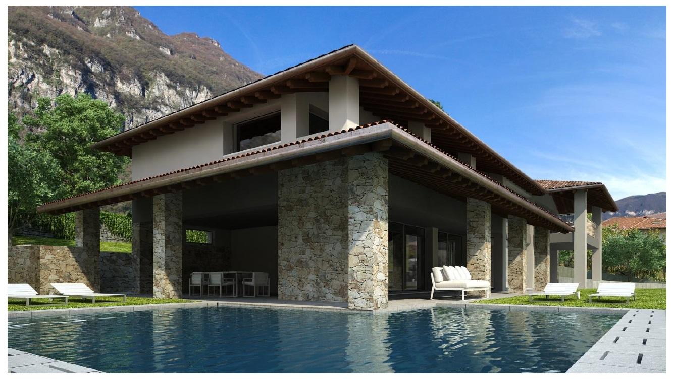 Lago como tremezzo villa moderna con bellissima vista lago for Piani di casa di lusso log