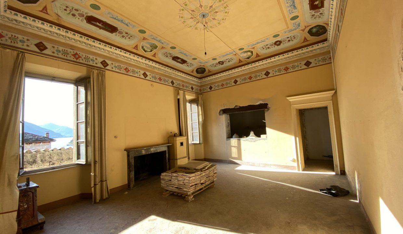 Villa d'epoca Gravedona ed Uniti Lago Como interni
