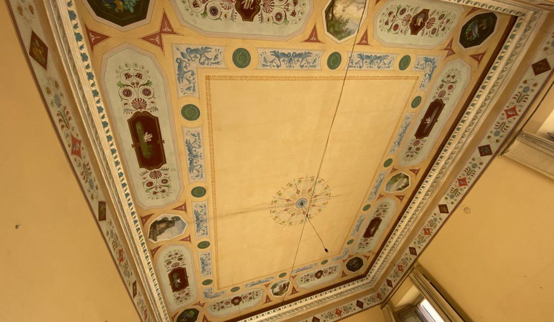 Villa d'epoca Gravedona ed Uniti Lago Como - salone affrescato