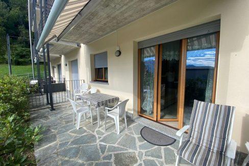 Appartamento Lago di Como Gera Lario con Piscina - terrazo