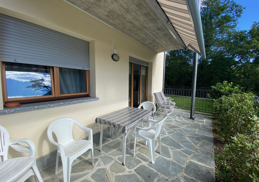 Appartamento Lago di Como Gera Lario con Piscina - terrazzo