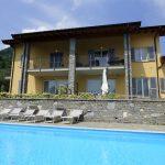 Tremezzina con piscina vista Lago Como