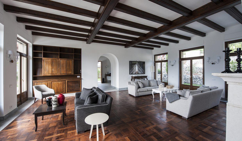 Soggiorno - Tremezzo villa indipendente con piscina, giardino e vista lago