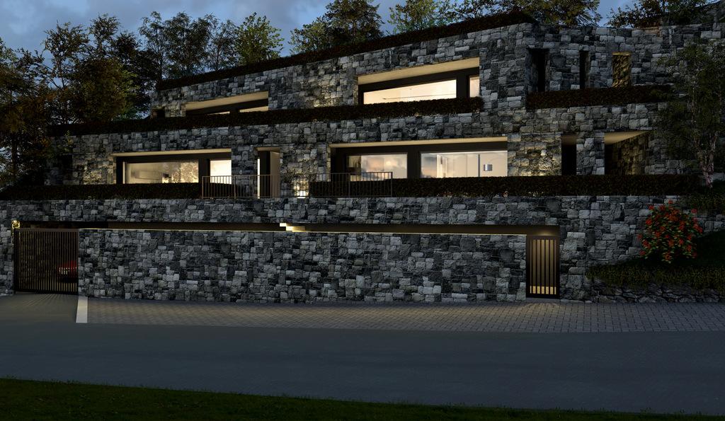 Lago Como Argegno Moderno Residence con Piscina