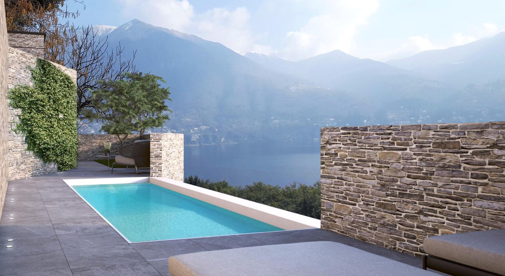 Lago Como Carate Urio Villetta con Moderno Design