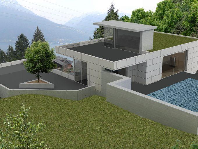 Villa Moderna da Edificare Lago Como Pianello del Lario - accesso auto