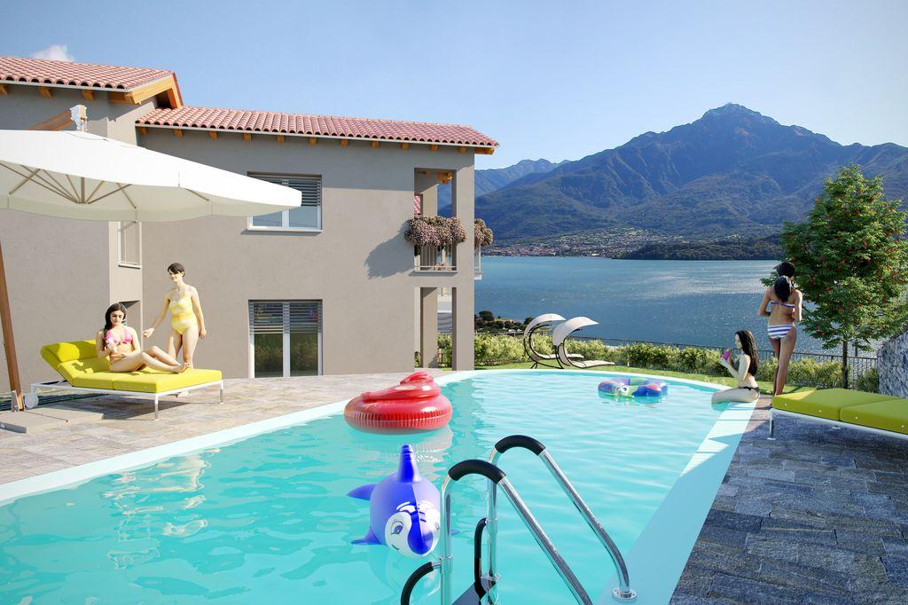 Appartamenti con Piscina e Vista Lago – Domaso