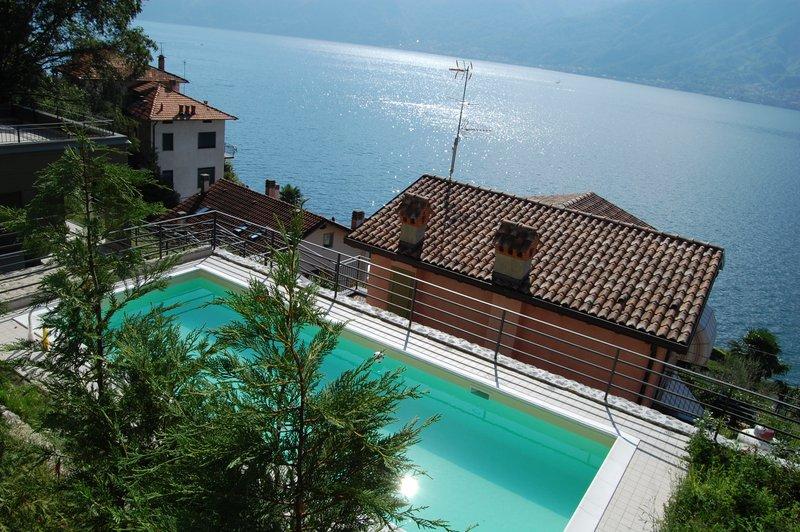 Lago Como Sala Comacina Residence con piscina - vista