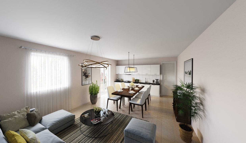 Casa Gravedona ed Uniti Lago Como - soggiorno - rendering