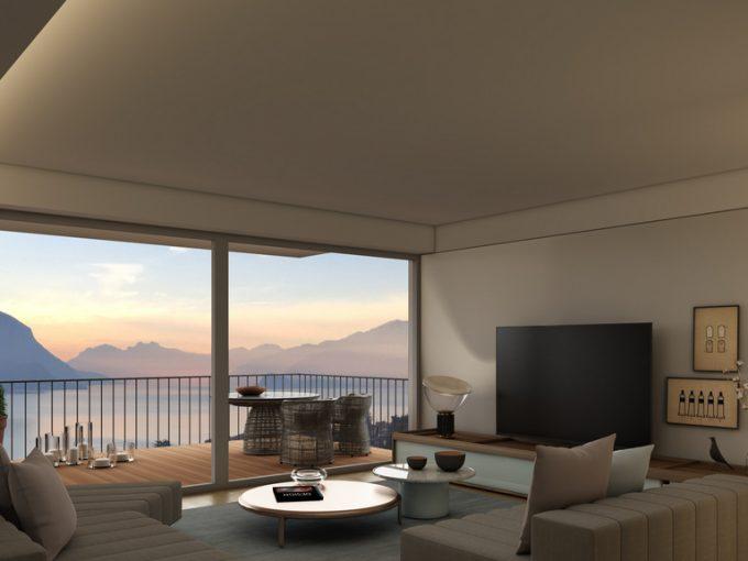 Appartamenti moderni San Siro vista laqo - soggiorno