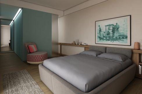 Lago Como - San Siro - Appartamenti moderni - camera da letto