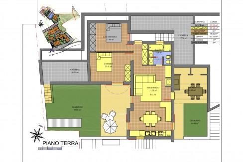 Lago Como Gravedona ed Uniti Appartamenti Vista Lago - PIANTINA H