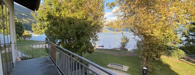 Casa Fronte Lago Como Domaso con Terreno - terrazzo