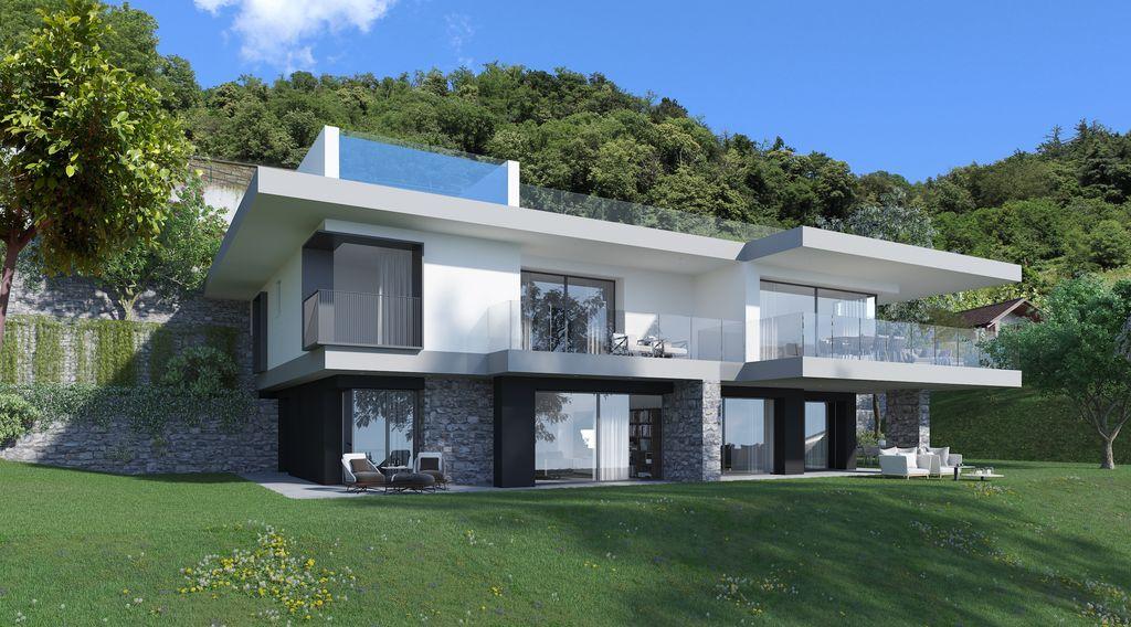 Appartamenti Moderni Vista Lago Como Domaso Collinare