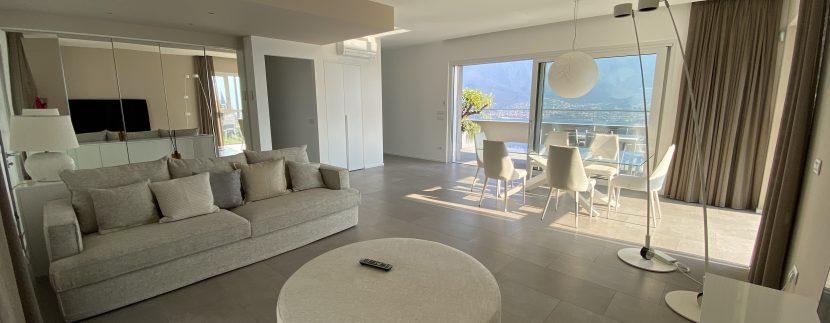 Lago Como Vercana Lussuoso Appartamento con Terrazzo - soggiorno