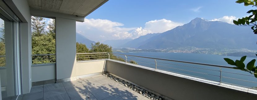 Lago Como Vercana Lussuoso Appartamento con Terrazzo - vista lago