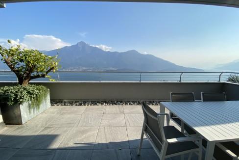 Lago Como Vercana Lussuoso Appartamento con Terrazzo - terrazzo