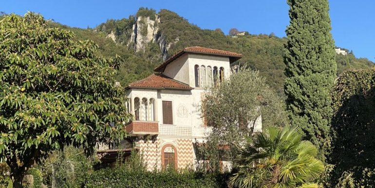 Villa Fronte Lago Como Oliveto Lario con Darsena - esterni