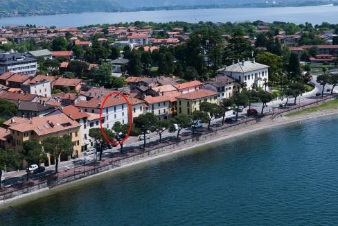 Lago Como Domaso Palazzo Lungolago - posizione