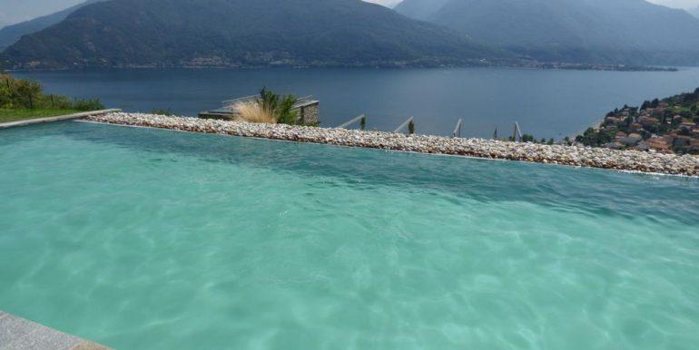 Appartamenti Pianello del Lario Vista Lago Como con piscina - piscina