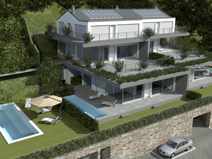 Lago Como Domaso Moderno Residence - garage