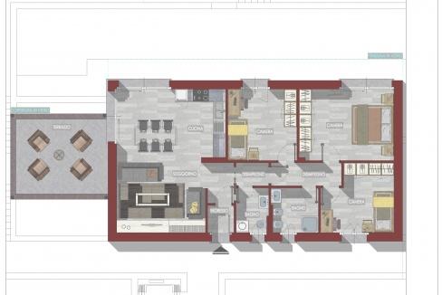 Lago Como Moderni Appartamenti con Piscina - Piantina n.5