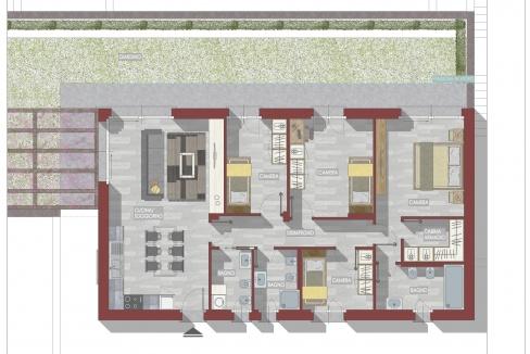 Lago Como Moderni Appartamenti con Piscina - Piantina n.6