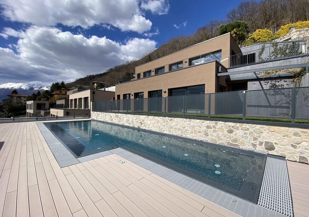 Lago Como Moderni Appartamenti con Piscina