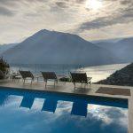 Argegno Lago Como Villa con Bellissima Vista Lago, Giardino privato e Piscina - piscina