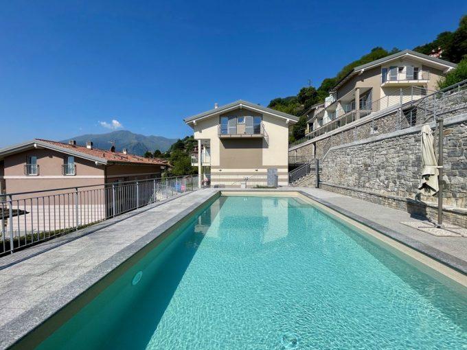 Lago Como Appartamento con Giardino e Piscina Domaso - piscina