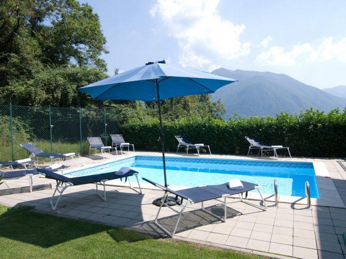 Lago Como Argegno Villa con Piscina, Terrazza e Vista Lago - piscina