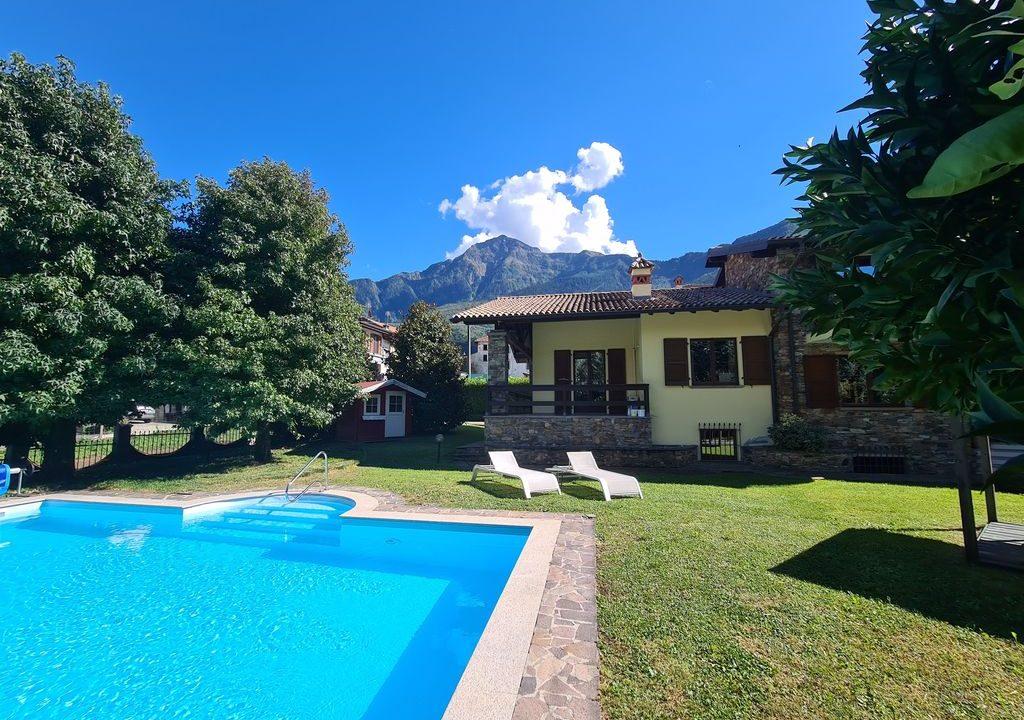 Lago Como VILLA con Piscina e Giardino Colico - piscina